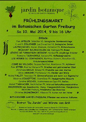 Märit Botanischer Garten FR