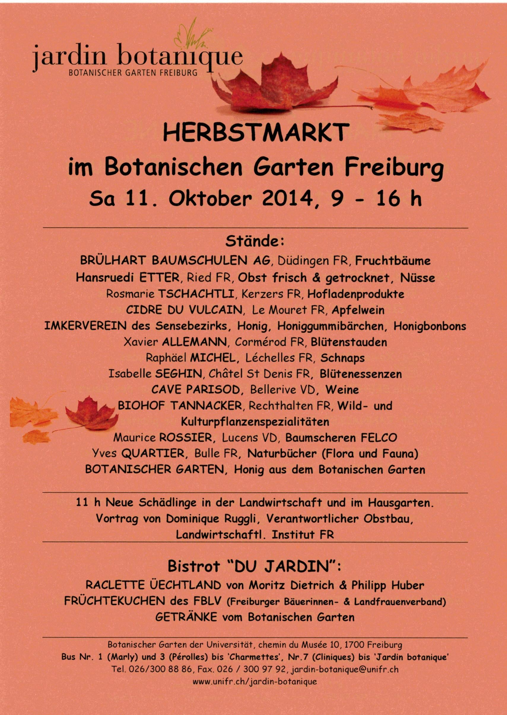 Märit botanischer Gartenl07102014