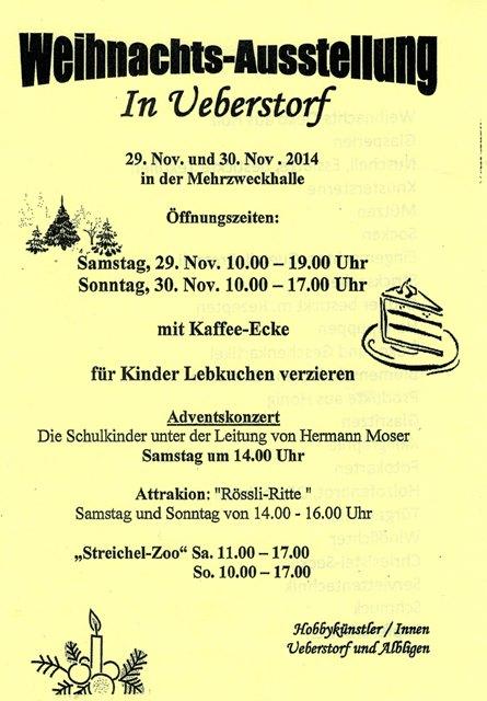 Weihnachtsmarkt in Ueberstorf 1420112014